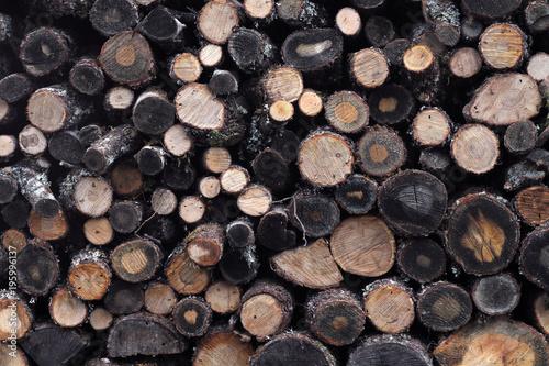 Foto op Canvas Brandhout textuur bois de chauffage