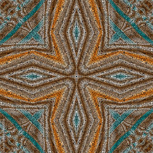 Abstrakt fraktal Fliese Illustration nahtlos - 196000336