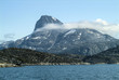 View of a large peak on the west coast of Greenland