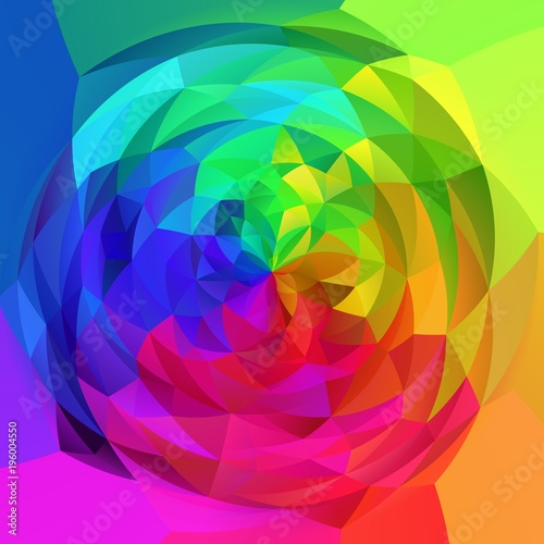 abstract modern art geometric swirl background - full spectrum rainbow colored © ardely