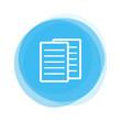 Weiße Papiere auf hellblauem Button