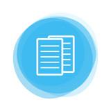 Weiße Papiere auf hellblauem Button - 196005794