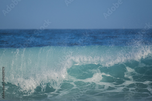 Fotobehang Canarische Eilanden Big oceanic wave and power
