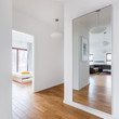 Hall with big mirror