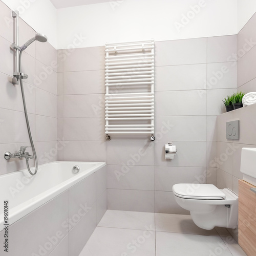 Gray home bathroom - 196010145