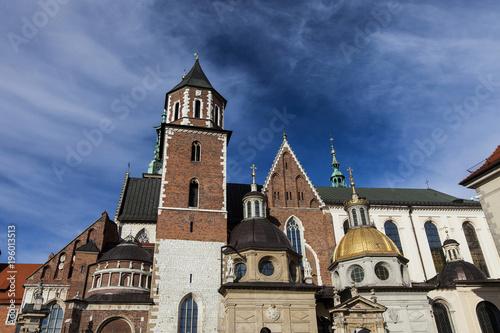 Deurstickers Krakau Wawel Cracovia castle, Krakow, Poland