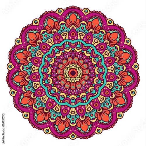 Vector round abstract circle. Mandala style. - 196020742