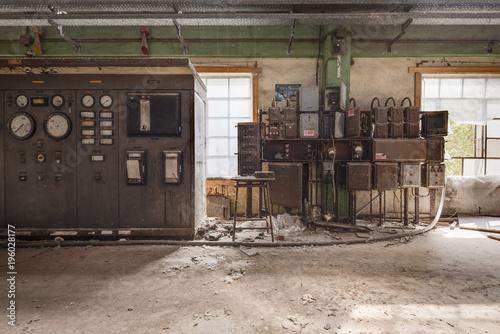 Aluminium Oude verlaten gebouwen Controlroom Factory