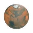 Mars Planet on white. 3D illustration - 196028534