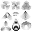 Cretive geometric shapes. Vector modern design elements. - 196031179