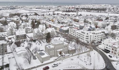 Poster Aerial city view of Reykjavik from Hallgrimskirkja, Reykjavik, Finland