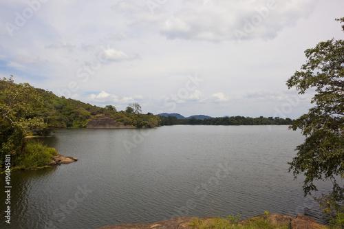 Foto op Canvas Diepbruine Sorabora lake in Sri Lanka