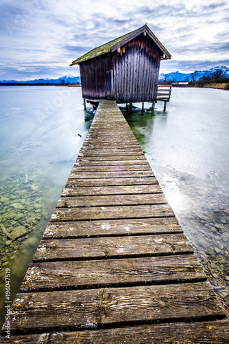Plexiglas Pier at the lake