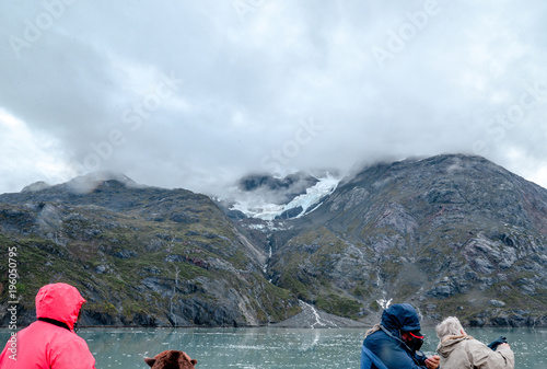 Deurstickers Wit Skagway. Alaska. Glacier Bay. National Park