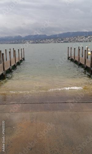 Lakeside in Zurich, Switzerland