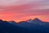 Pink Mountain Sunrise