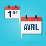 calendrier bulle : 1er avril (français) - 196063386