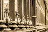 old elegant fence - 196071151