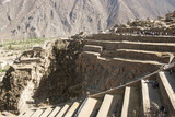 Ollantaytambo fortress inca construction in Cuzco Peru - 196071544