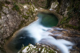Pozza del Diavolo waterfall. Long exposure.