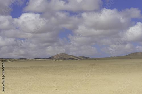 In de dag Beige Landscape Dunes Of Corralejo, Fuerteventura, Canary Islands, Spain.