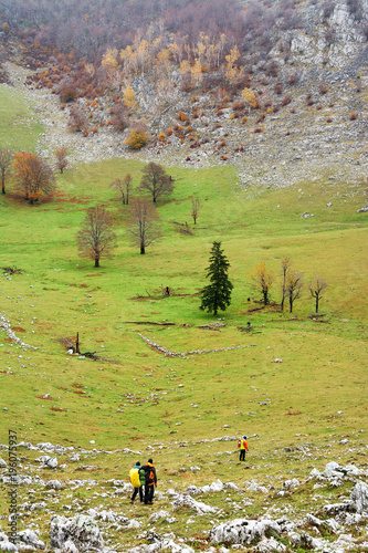 Keuken foto achterwand Pistache Autumn landscape in Mehedinti Mountains, Romania, Europe