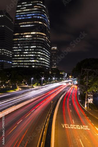 Aluminium Nacht snelweg Urban trail