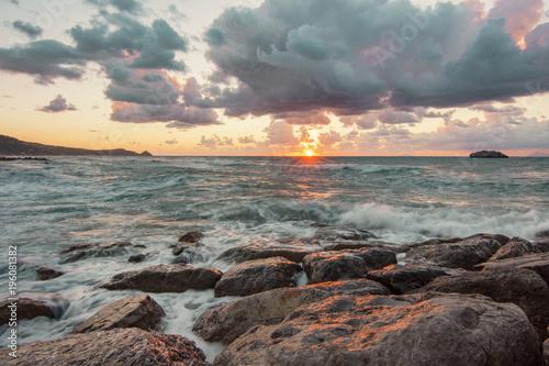 Staande foto Zee zonsondergang Atmosphere of Sicily