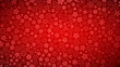 Background of various small flowers in red colors - 196085138