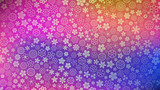 Background of various small flowers in purple and blue colors - 196085112