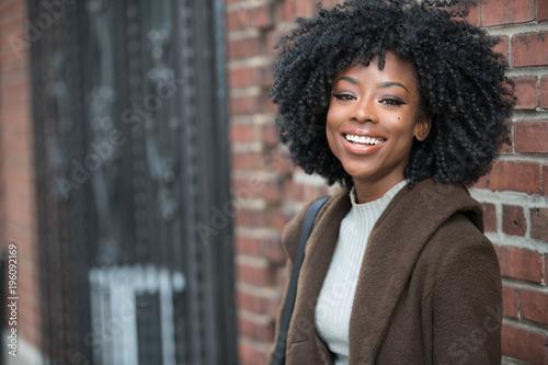 Beautiful black woman laughing