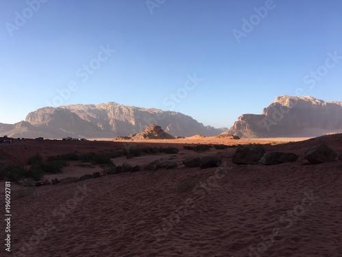 Foto op Canvas Chocoladebruin Wadi Rum - desert