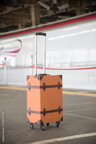 Fotobehang Spoorlijn 旅行イメージ