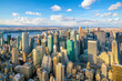 Aerial view of Manhattan skyline, New York City