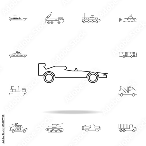Poster F1 F1 Icon. Detailed set of transport outline icons. Premium quality graphic design icon. One of the collection icons for websites, web design, mobile app