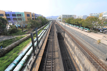 railway of INTERCITY THROUGH TRAIN  at hk
