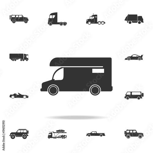 Gamesageddon Caravan Icon Motor Home Icon Detailed Set Of
