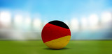 Germany soccer football ball. Soccer stadium. 3d rendering - 196120178