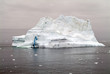 View of iceberg in the Arctic Ocean off the coast of Greenland