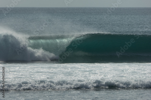 Tuinposter Bali left hand barrel last light bali surfing