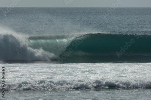 Staande foto Bali left hand barrel last light bali surfing