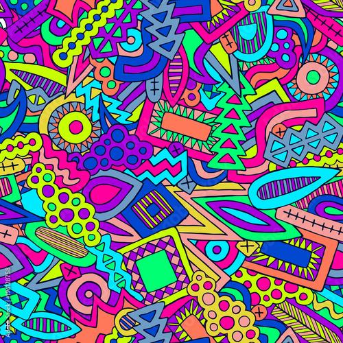 Doodle abstrakcjonistycznych etnicznych elementów lata modnego wzór 2