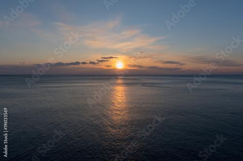 Fotobehang Liguria Seascape during sunset, Cinque Terre, Italy