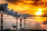pipe factory smoke - 196134544