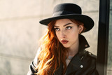 Young woman with red hair - 196137333