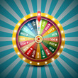 Wheel of Fortune on Retro Blue Background