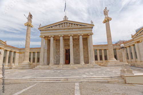 Tuinposter Athene Athens Greece, the national academy with Athena and Apollo statues