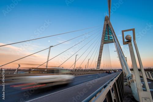 Megyeri bridge in Budapest - 196147164