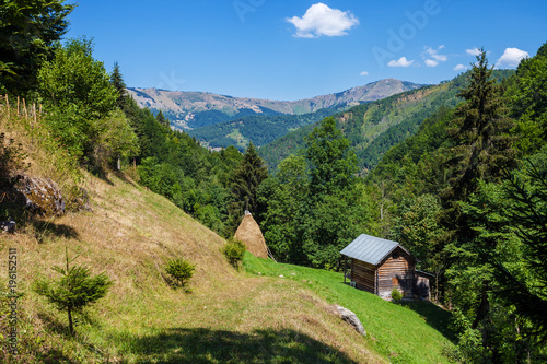 Summer house of shepherd in a mountains