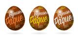Oeuf Joyeuses Pâques - 196152755